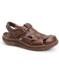 Born Cabot Ii Leather Sandal - Brown