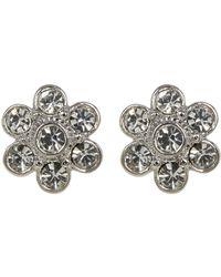 Nadri - Crystal Flower Button Earrings - Lyst