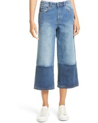 Robert Rodriguez - Two-tone Gaucho Jeans - Lyst