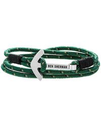 Ben Sherman - Anchor Braided Cord Bracelet - Lyst