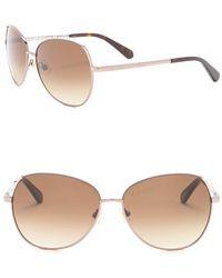 1fd432dd366 Kate Spade - 58mm Candis Aviator Sunglasses - Lyst