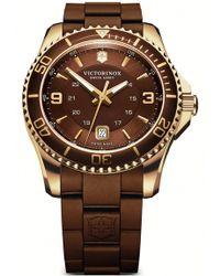 Victorinox - Men's Maverick Gs Rubber Strap Watch, 43mm - Lyst