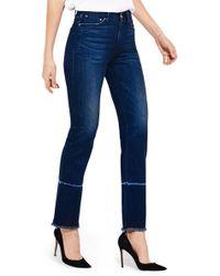 Ayr The Aloe High Waist Straight Leg Jeans (orchids) - Blue