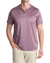 Con.struct Short Sleeve Knit Henley - Purple