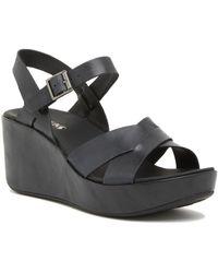 Kork-Ease Denica Platform Wedge Sandal - Black