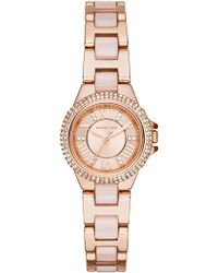 MICHAEL Michael Kors - Women's Rose Gold-tone Petite Camille Watch - Lyst