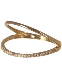 Bony Levy - 18k Yellow Gold Open Oval Pave Diamond Ring - 0.11 Ctw - Lyst