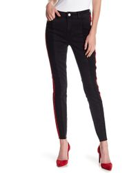 Romeo and Juliet Couture - Side Stripe Paneled Denim Jeans - Lyst