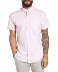 Calibrate - Trim Fit Jaspé Short Sleeve Sport Shirt - Lyst