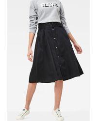 G-Star RAW Bronson Paperbag Waist Skirt - Black