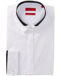 BOSS - Etris Extra Slim Fit Stretch Dress Shirt - Lyst