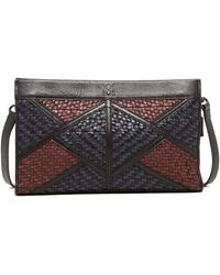 Christopher Kon - Geo Patch Weave Leather Clutch - Lyst