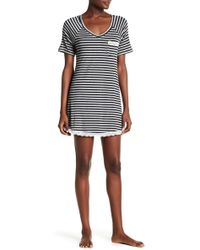 Honeydew Intimates - Striped Lace Trimmed Sleepshirt - Lyst