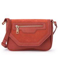Moda Luxe Piper Zipper Crossbody Bag - Red