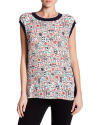 Vivienne Tam - Printed Short Sleeve Shirt - Lyst