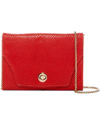 Tusk - Snake Embossed Leather Portable Pocket Clutch - Lyst