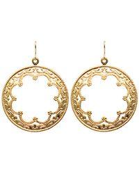 Moon & Lola - Jordan Filigree Round Drop Earrings - Lyst