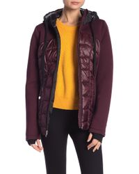 MICHAEL Michael Kors - Mixed Media Quilted Jacket - Lyst