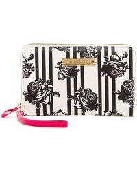 Betsey Johnson - Floral Stripe Travel Wristlet - Lyst