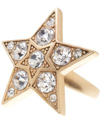 Jenny Packham | Glass Crystal Embellished Star Ring - Size 7 | Lyst
