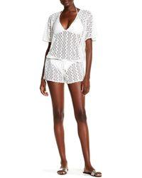Melissa Odabash - Alyna Crochet Lace Knit Romper - Lyst