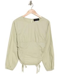 KNOWONECARES Ruched Long Sleeve Top - Multicolor