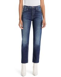Mother The Tomcat High Waist Ankle Straight Leg Jeans - Blue