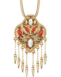 House of Harlow 1960 - Montezuma Spiked Fringe Pendant Choker Necklace - Lyst