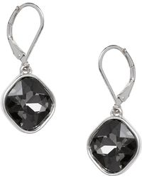 Joe Fresh   Euro Bezel Set Stone Drop Earrings   Lyst