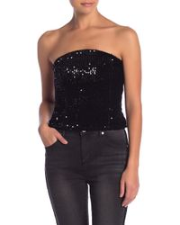 Romeo and Juliet Couture - Sequin Strapless Top - Lyst