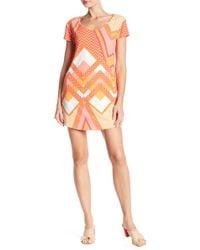 Tori Richard - Daisy Short Sleeve Printed Dress - Lyst