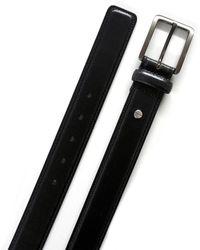 Boconi 35mm Brushed Gunmetal Buckle Full Grain Leather Belt - Black