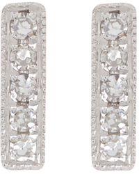 Meira T 14k Yellow Gold Bar Diamond Earrings - 0.03 Ctw - White