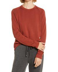 Lou & Grey Soft Pullover Sweatshirt - Red