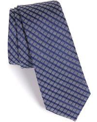 Calibrate - Check Silk & Cotton Tie - Lyst
