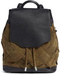 Rag & Bone Pilot Suede & Leather Backpack - Multicolour