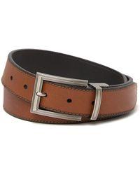 Boconi Reversible Leather Belt - Black