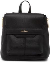 Sam Edelman Sutton Leather Mini Backpack - Black