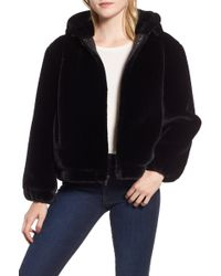 Andrew Marc - Faux Fur Bomber Jacket - Lyst
