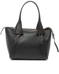 Aquatalia - Mini Pebbled Leather Shopper - Lyst