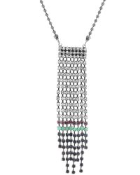 Steve Madden - Multi-colored Crystal Fringe Chain Necklace - Lyst
