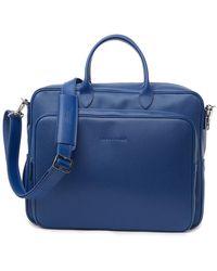Longchamp Veau Foulonne Briefcase - Blue