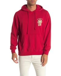 Obey Search Destroy Brand Logo Pullover Hoodie - Red