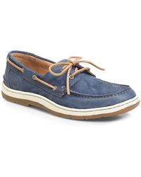 Born Ocean 2-eye Distressed Boat Shoes - Blue
