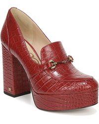 Sam Edelman Aretha Platform Loafer Pump - Red