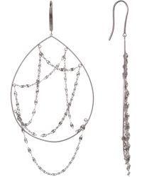 Lana Jewelry - 14k White Gold Oval Earrings - Lyst