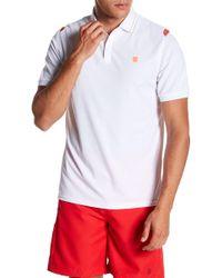 K-swiss Backcourt Colorblock Short Sleeve Polo - White