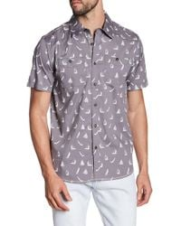 Xray Jeans - Sailboat Print Short Sleeve Slim Fit Shirt - Lyst