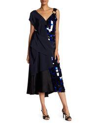 Diane von Furstenberg - Asymmetrical Sequin Solid Dress - Lyst