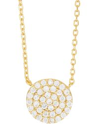 Argento Vivo 18k Gold Plated Sterling Silver Circle Pendant Necklace - Metallic